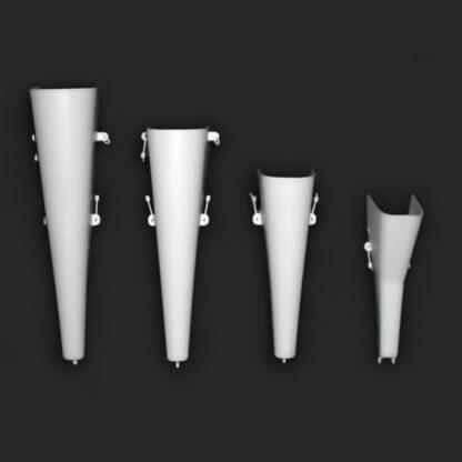 Retail Display Floral Vase - Slatwall Vases and Pegboard Vases