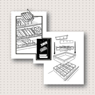 Modern Retail Display - Clear Plastic Organizer Bin