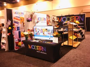 Modern Retail Solutions - Trade Show Booth Setup