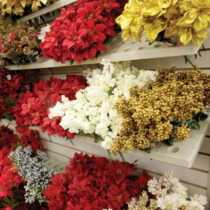 Modern Retail Display - Floral Bush Display Shelf - Slatwall, Pegboard or Lozier Mount