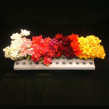 Modern Retail Display - Floral Bush Display Shelf - Slatwall, Pegboard or Lozier Mount