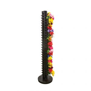 Modern Retail Display - Narrow Vertical Freestanding Floral Bush Retail Display Fixture