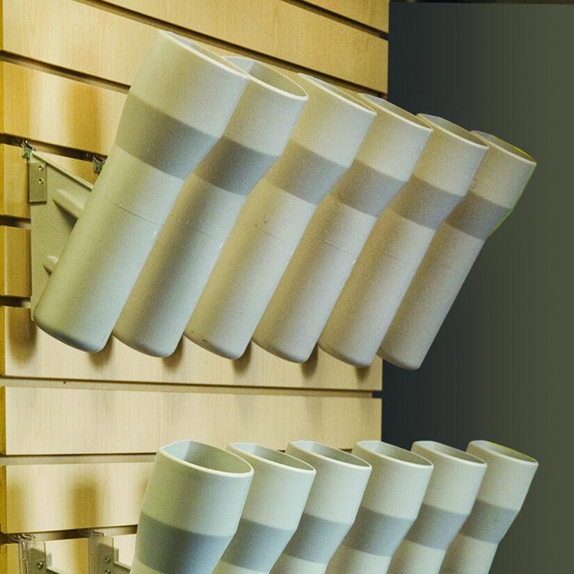 Modern Retail Display - Degree Angle Vases