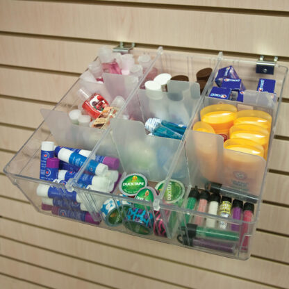 Modern Retail Display - Clear Plastic Organizer Bin