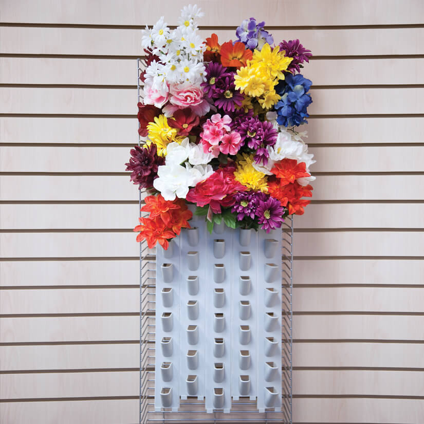 Modern Retail Display - Powerwing End Cap Floral Bush Display Unit