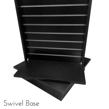 Modern Retail Display Fixture - Slatwall Retail Display Unit with swivel base