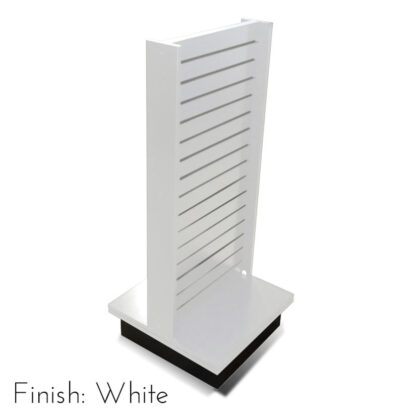 Modern Retail Display Fixture - Slatwall Retail Display Unit - Finish White