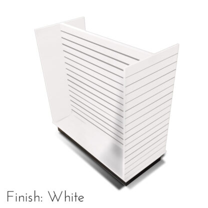 Modern Retail Display Fixture - H Unit Slatwall Retail Display Unit - Finish White