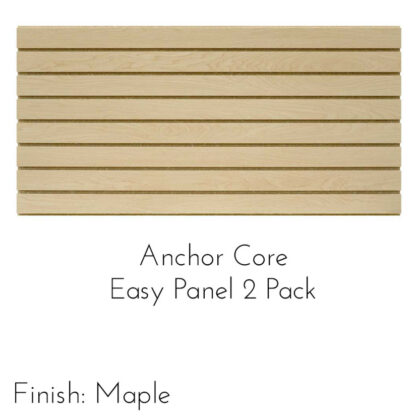 Modern Retail Display - Anchor Core Slatwall Panels - 2 Pack