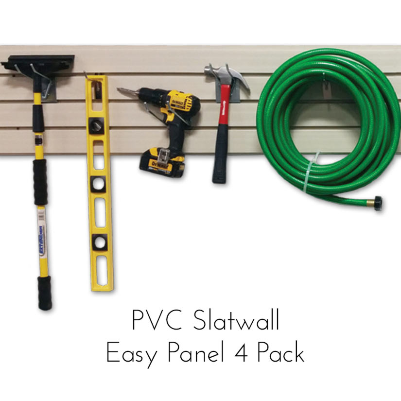 Modern Retail Display - PVC Slatwall Panels - 4 Pack