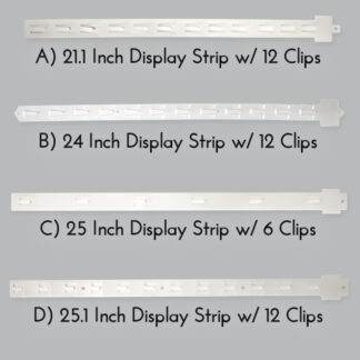 Modern Retail Hanging Display Strips