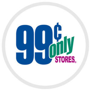 99 Cents Only Stores use our retail store display fixture and display shelves.