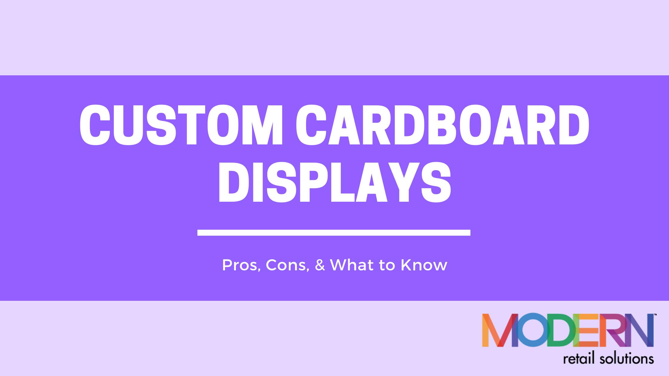 custom cardboard displays