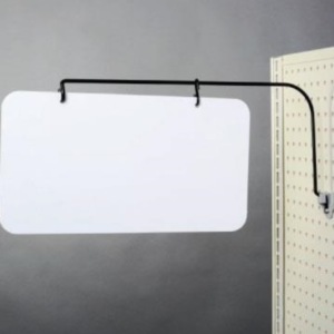 Black Adjustable Arc Sign Hanger