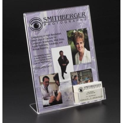 Easel Sign Holder with Business Card Pocket